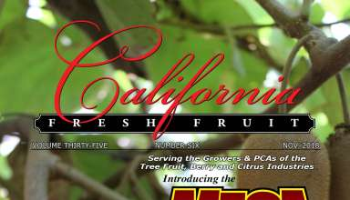 California Fresh Fruit Magazine November 2018 Issue