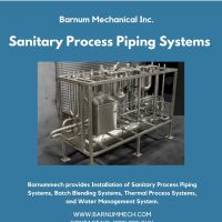 Sanitary Process Piping and Batch Blending Systems - Barnummech